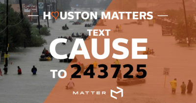 Text to Donate For Houston Matters
