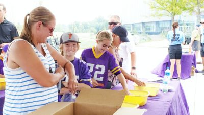 Vikings fans packing MATTERbox snack packs