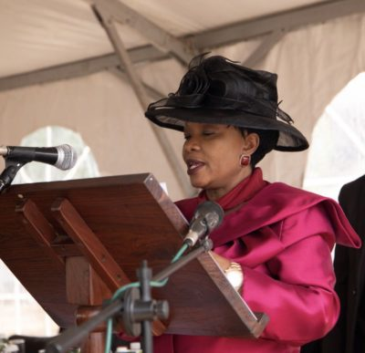 Her Excellency the First Lady of Zimbabwe, the Honorable Madam Auxillia Mnangagwa