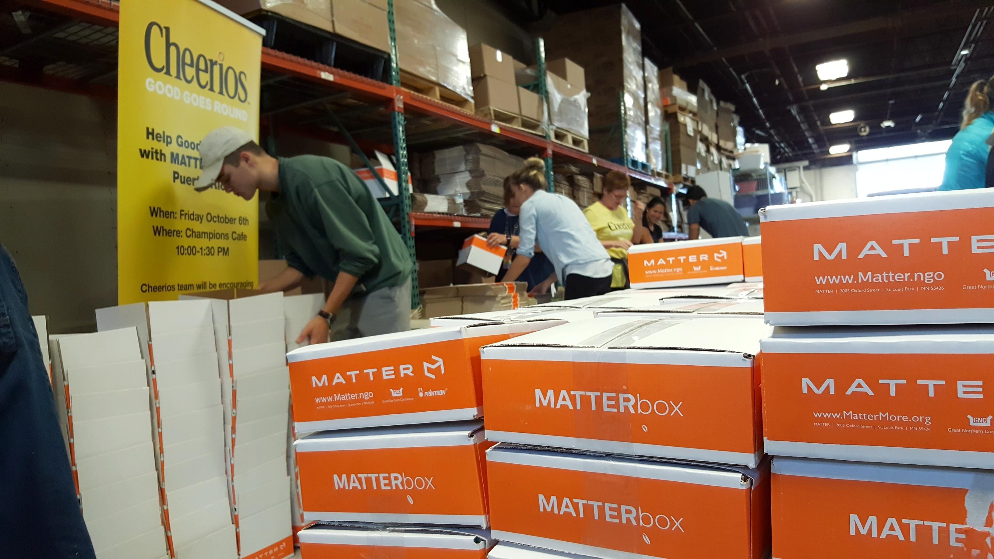 General Mills MATTERbox Packing