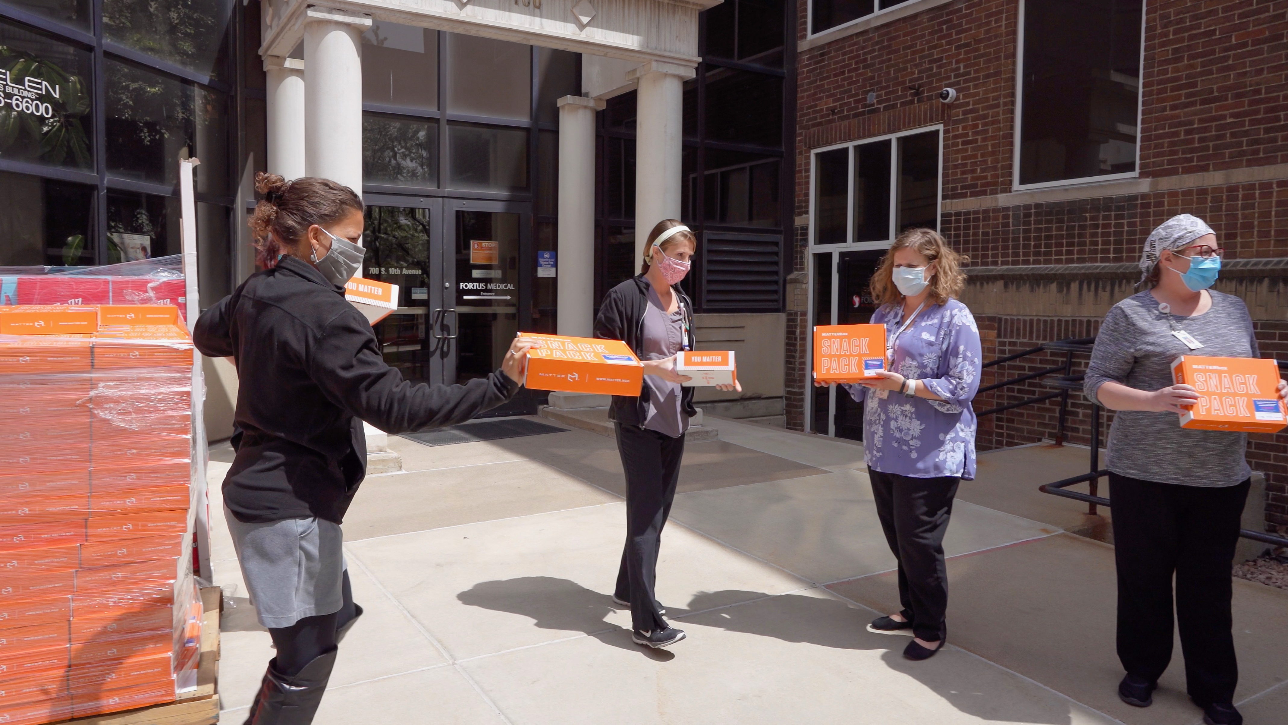 YOU MATTER: Sending Thanks & Snack Packs To Frontline Workers